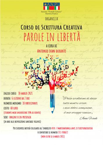 Locandina Corso di Scrittura Creativa - web